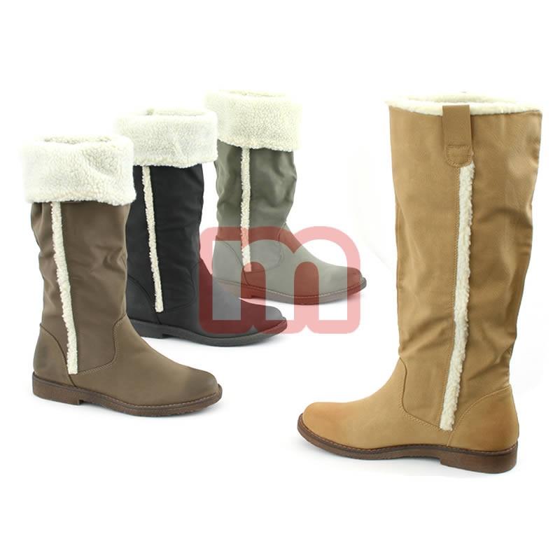 3a97abbaa4f25a Damen Fell Stiefel Schuhe Gr. 36-41 je 13